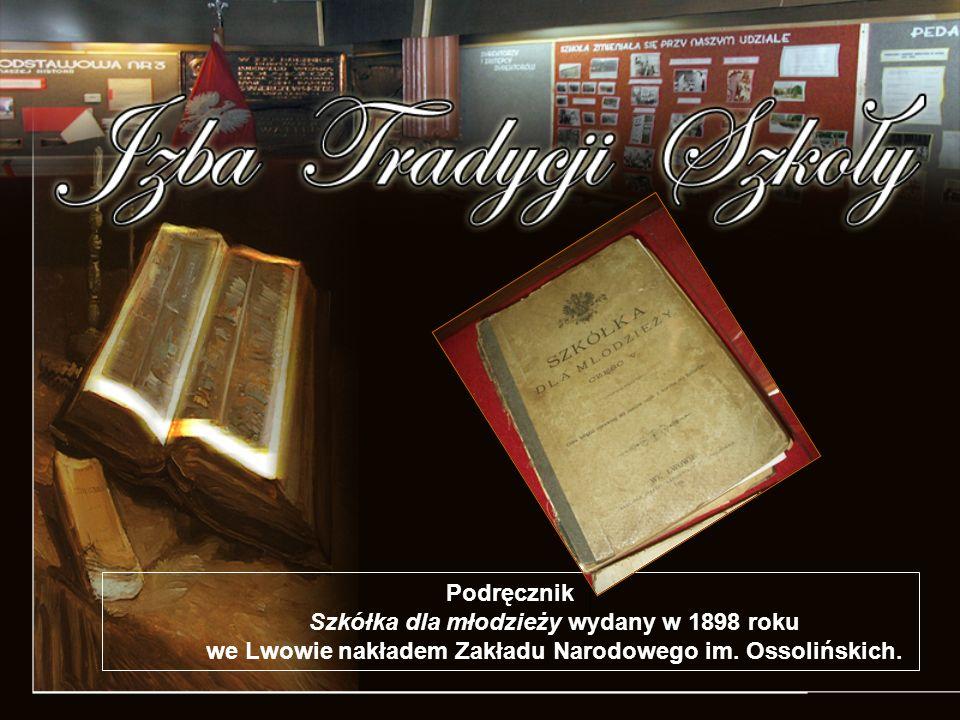 Podręcznik Szkółka dla młodzieży wydany w 1898 roku we Lwowie nakładem Zakładu Narodowego im.