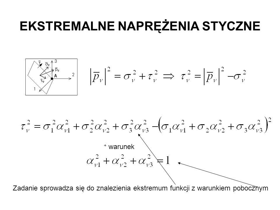 + warunek Zadanie sprowadza się do znalezienia ekstremum funkcji z warunkiem pobocznym
