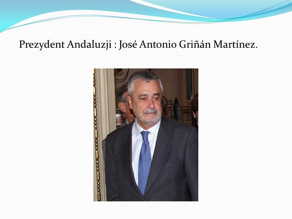 Prezydent Andaluzji : José Antonio Griñán Martínez.