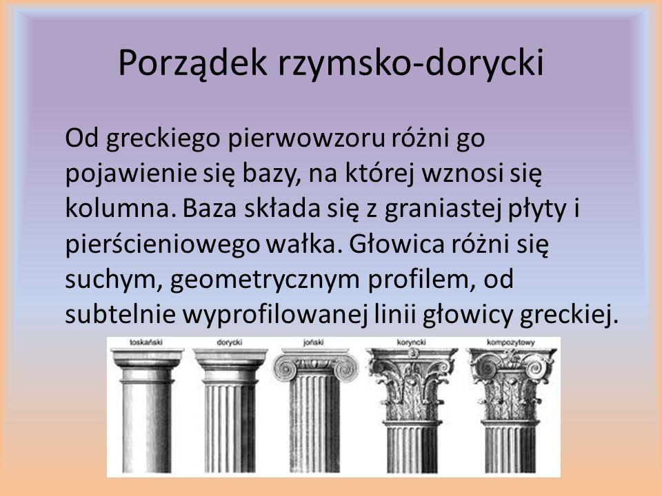 Porządek rzymsko-joński Nie ma on zasadniczych zmian w formie.