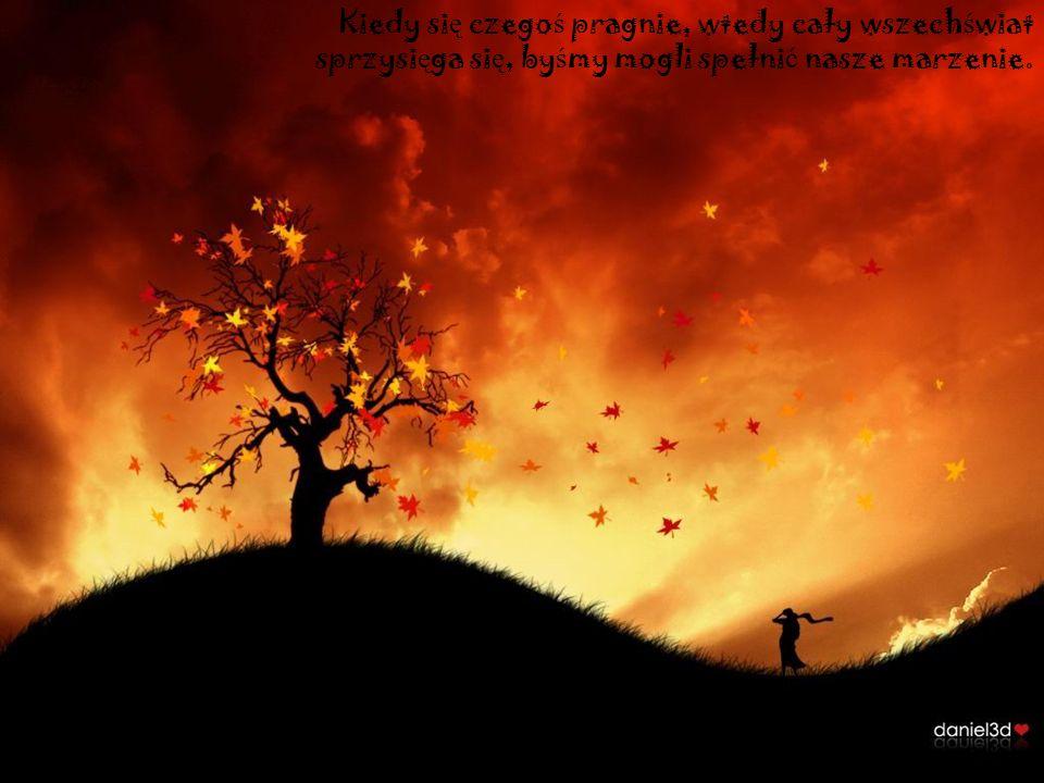 Kiedy si ę czego ś pragnie, wtedy cały wszech ś wiat sprzysi ę ga si ę, by ś my mogli spełni ć nasze marzenie.