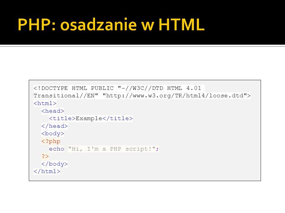 Example <?php echo