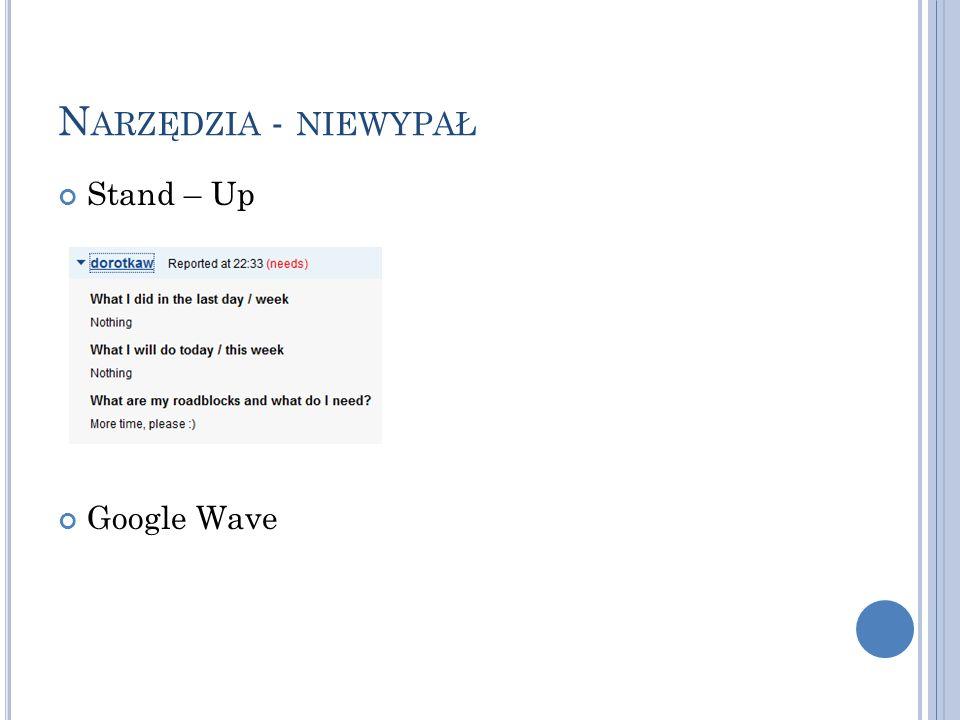 N ARZĘDZIA - NIEWYPAŁ Stand – Up Google Wave
