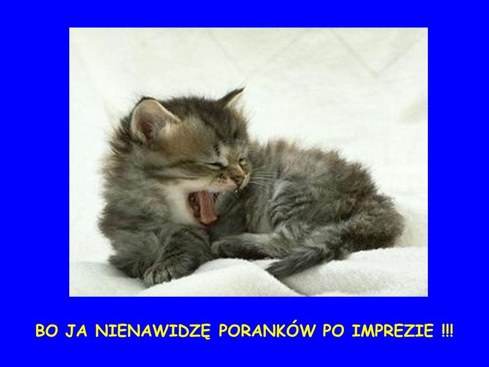 ...i móc się wyspać :-)