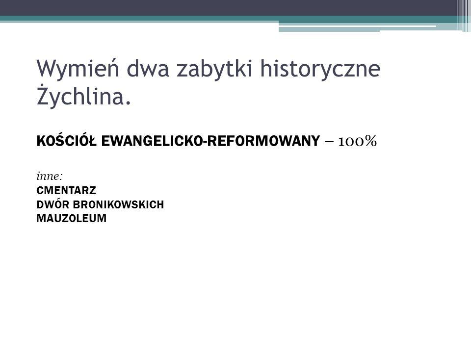 Wymień dwa zabytki historyczne Żychlina.