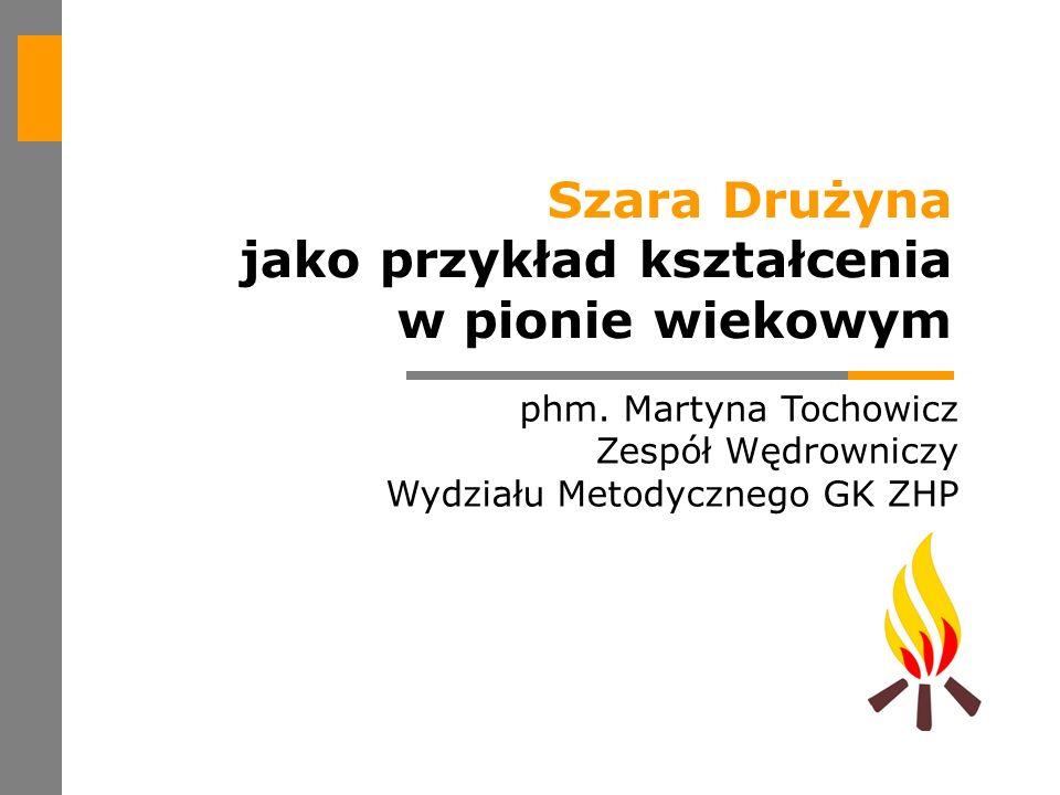 phm. Martyna Tochowicz Zespół Wędrowniczy Wydziału Metodycznego GK ZHP Szara Drużyna jako przykład kształcenia w pionie wiekowym