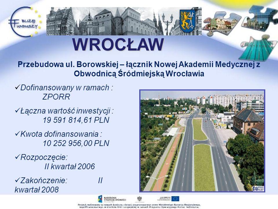 WROCŁAW Przebudowa ul.