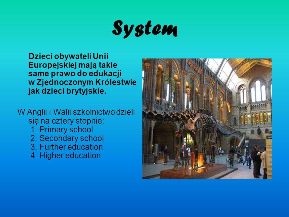 System Dzieci obywateli Unii Europejskiej mają takie same prawo do edukacji w Zjednoczonym Królestwie jak dzieci brytyjskie. W Anglii i Walii szkolnic