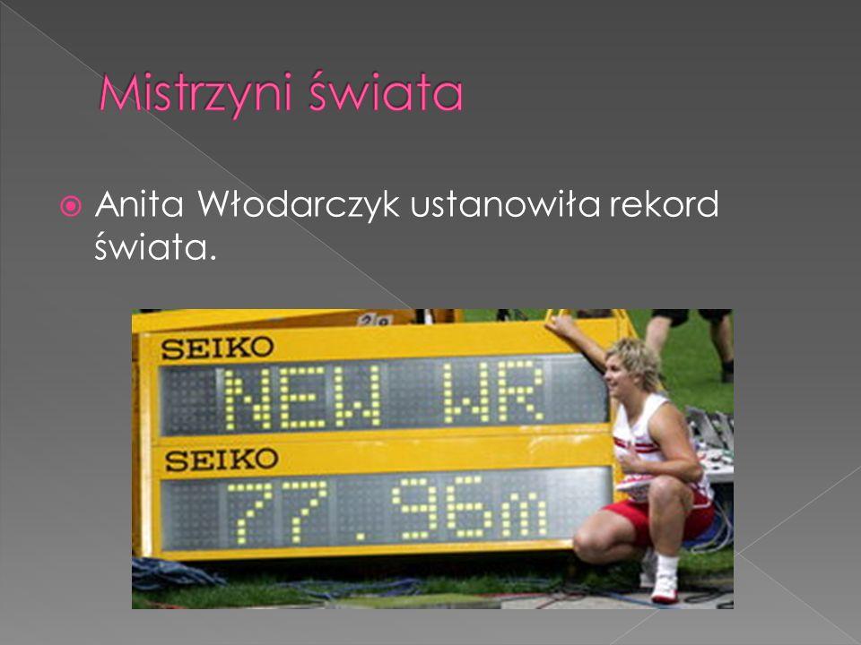 Anita Włodarczyk ustanowiła rekord świata.