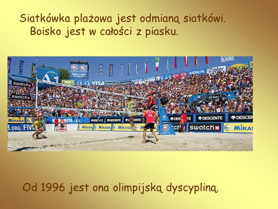 Siatkówka plażowa jest odmianą siatkówi. Boisko jest w całości z piasku. Od 1996 jest ona olimpijską dyscypliną.