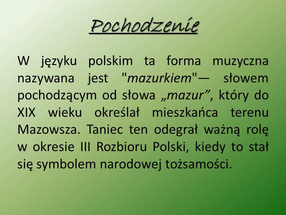 Ubiór Mazur był tańczony głównie przez szlachtę.