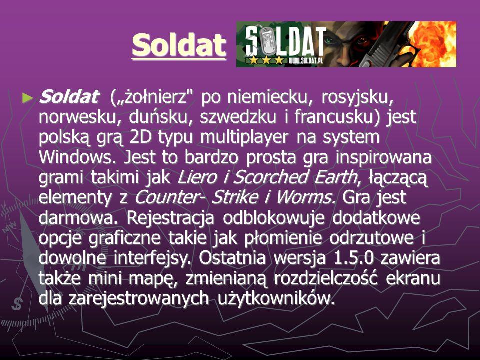 Soldat - historia 1.0.5b (wydana 23 sierpnia 2002) jest uważana za pierwszą ważniejszą wersję tych gier, jednak wiele beta wersji tej gry było dostępnych przed oficjalną premierą.