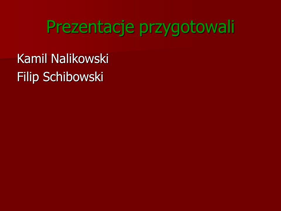 Prezentacje przygotowali Kamil Nalikowski Filip Schibowski