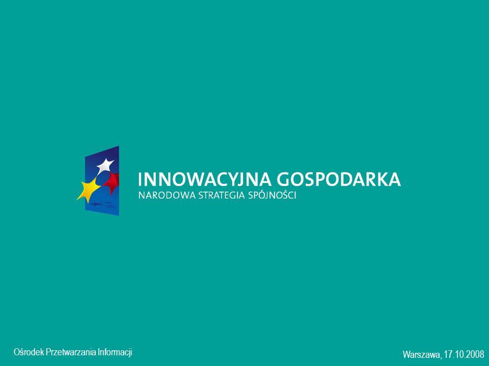 Ośrodek Przetwarzania Informacji Warszawa, 17.10.2008