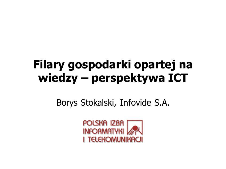 Filary gospodarki opartej na wiedzy – perspektywa ICT Borys Stokalski, Infovide S.A.