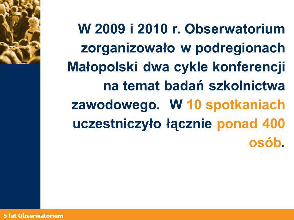 5 lat Obserwatorium W 2009 i 2010 r.