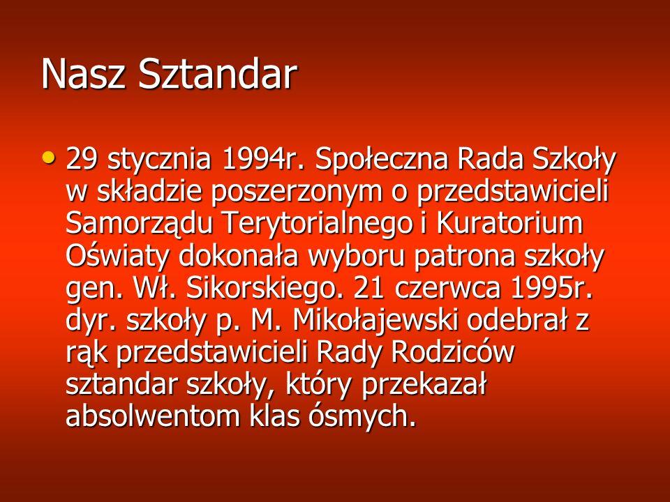 Dostajemy najważniejszy Akt Niezapomnianą datą w historii szkoły jest dzień 26 maja 1996 r.