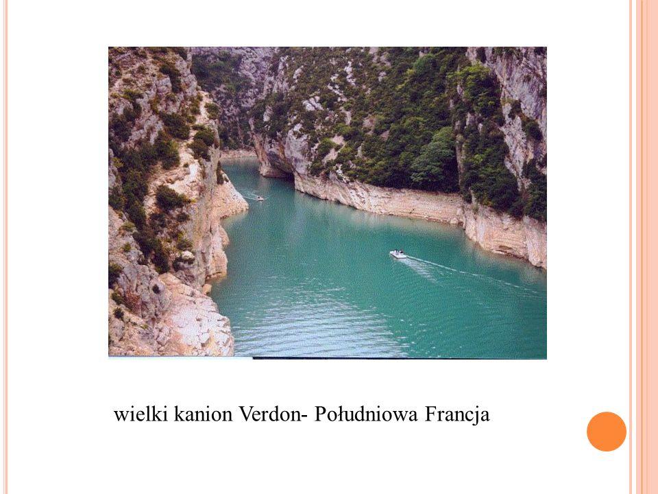 wielki kanion Verdon- Południowa Francja