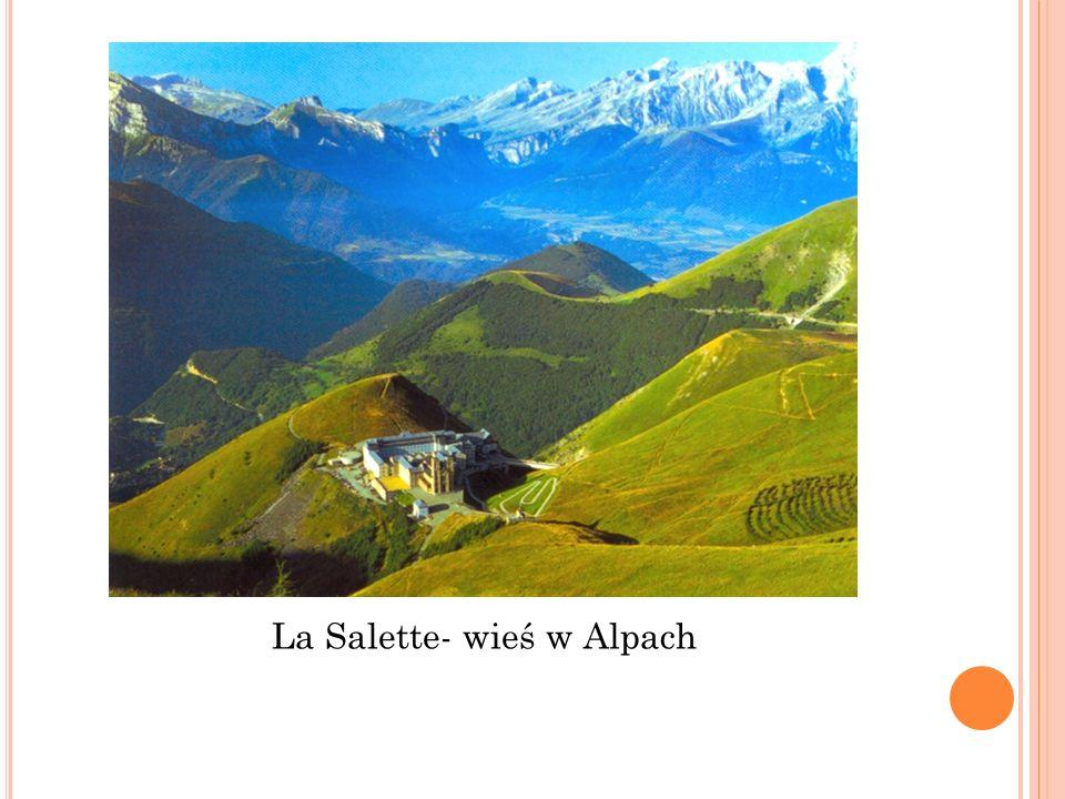 La Salette- wieś w Alpach