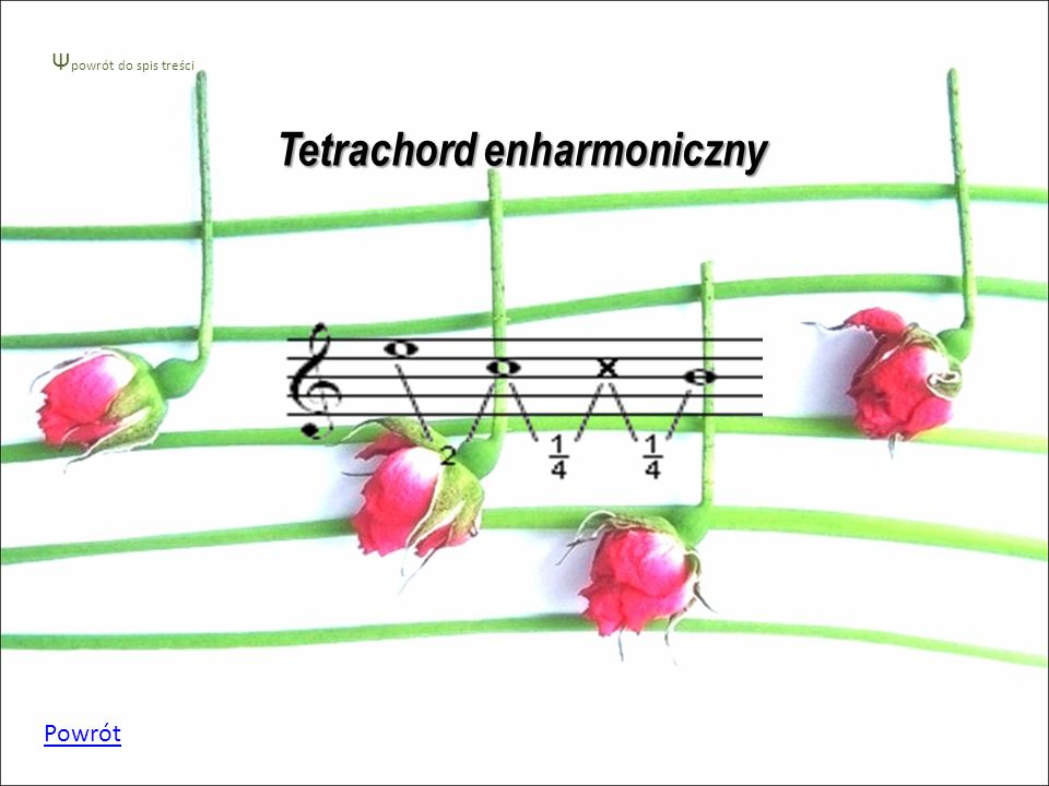 Tetrachord chromatyczny Powrót Ψ powrót do spis treści