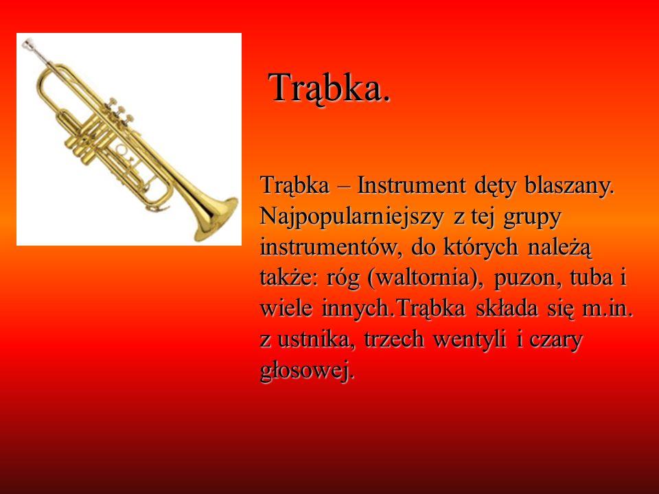 Trąbka. Trąbka – Instrument dęty blaszany. Najpopularniejszy z tej grupy instrumentów, do których należą także: róg (waltornia), puzon, tuba i wiele i