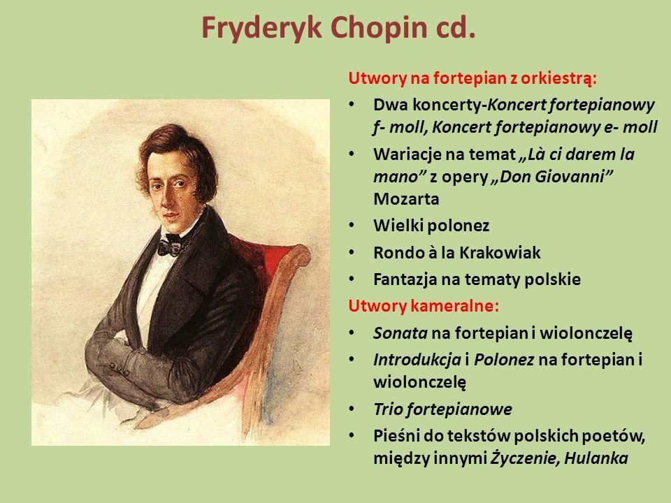 Fryderyk Chopin cd. Utwory na fortepian z orkiestrą: Dwa koncerty-Koncert fortepianowy f- moll, Koncert fortepianowy e- moll Wariacje na temat Là ci d