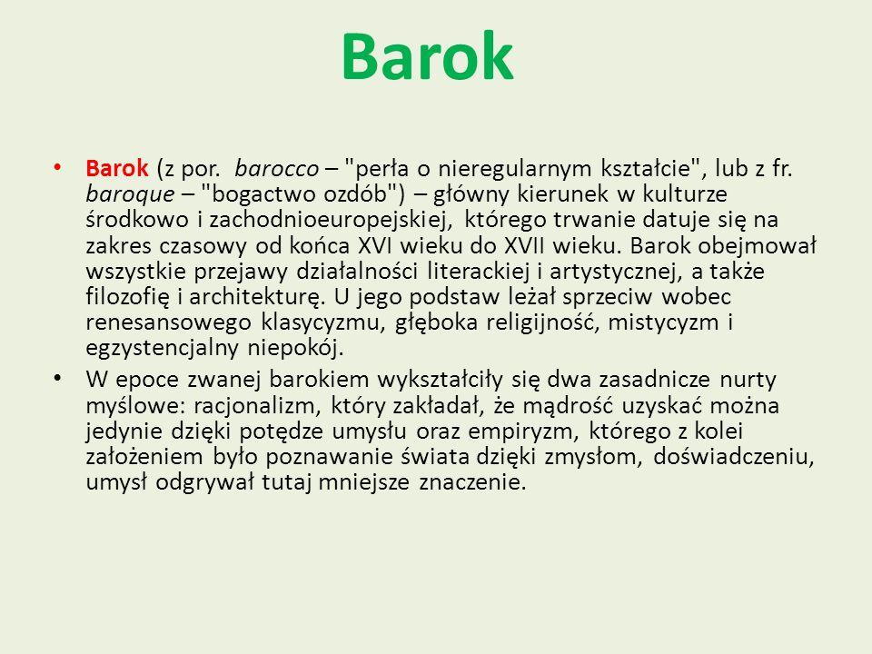 Barok Barok (z por. barocco –