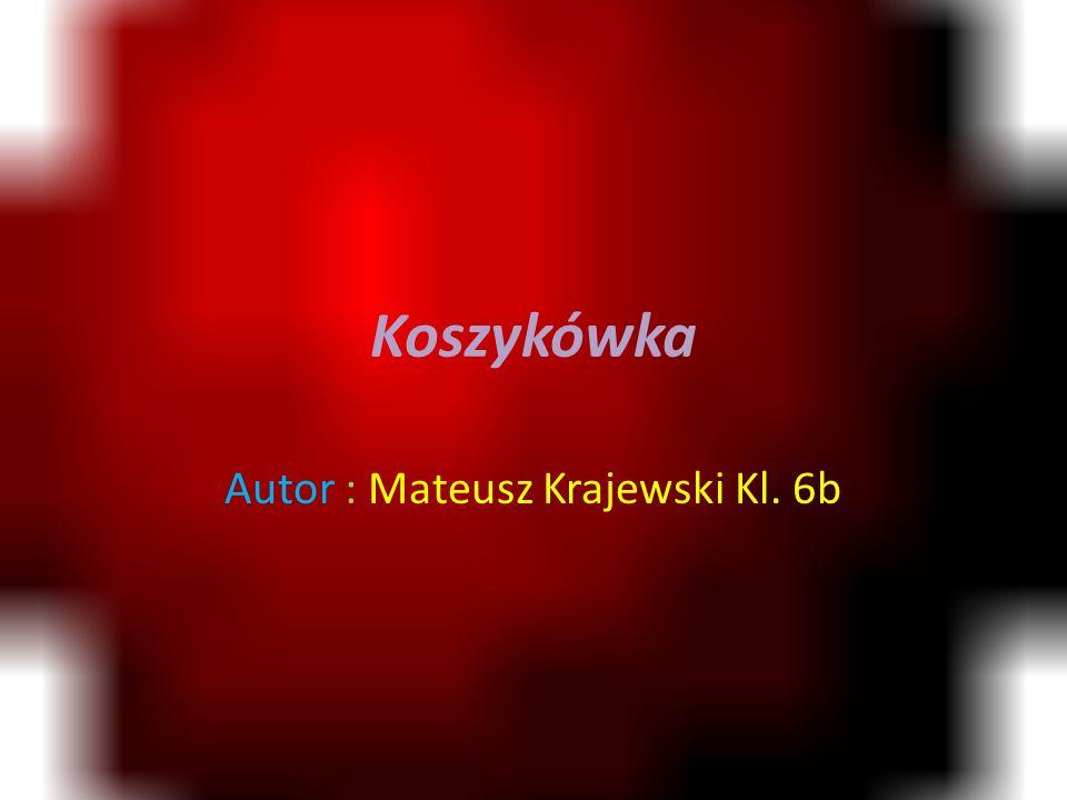 Koszykówka Autor : Mateusz Krajewski Kl. 6b