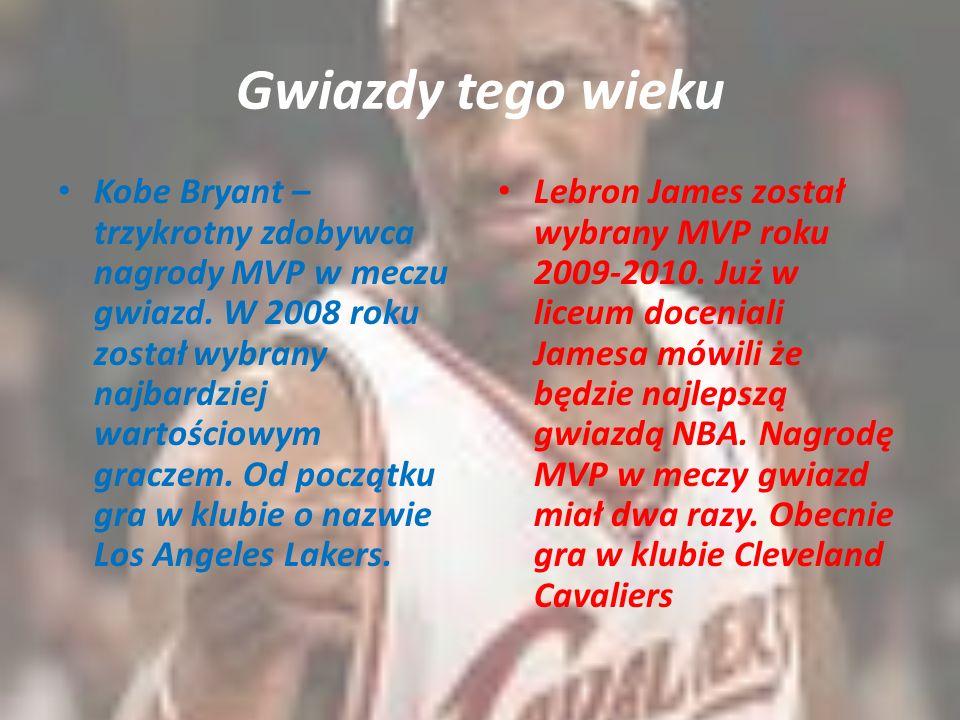 Gwiazdy tego wieku Kobe Bryant – trzykrotny zdobywca nagrody MVP w meczu gwiazd. W 2008 roku został wybrany najbardziej wartościowym graczem. Od począ