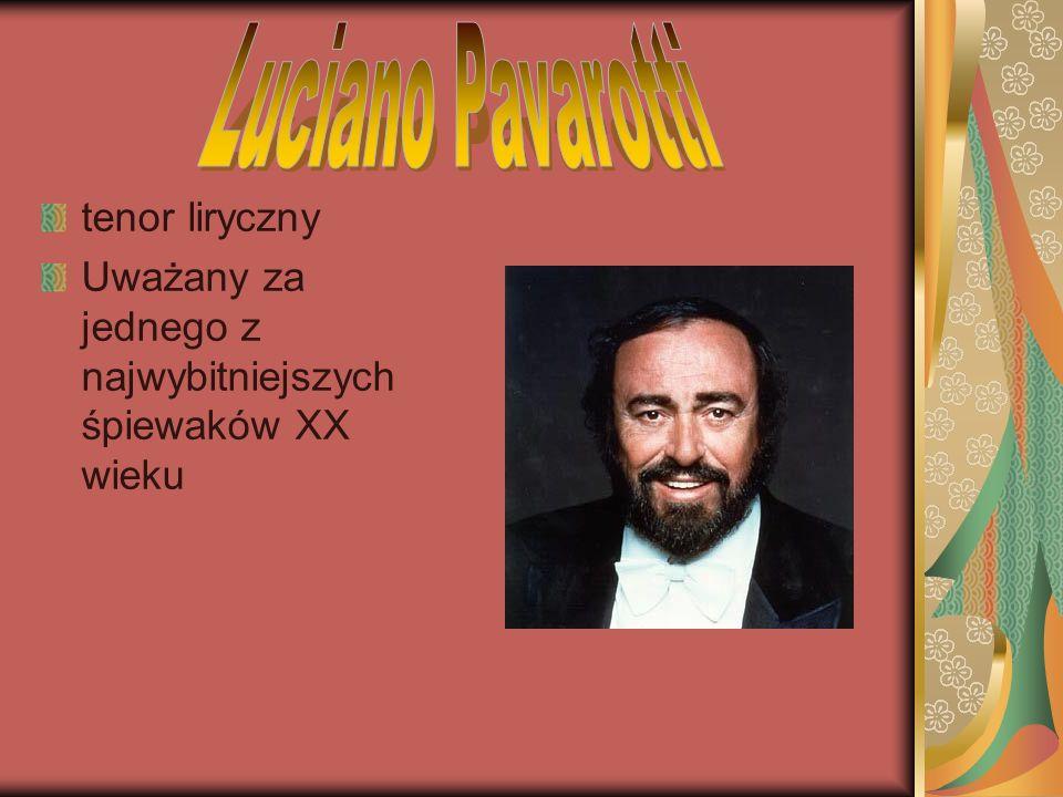 tenor liryczny Uważany za jednego z najwybitniejszych śpiewaków XX wieku