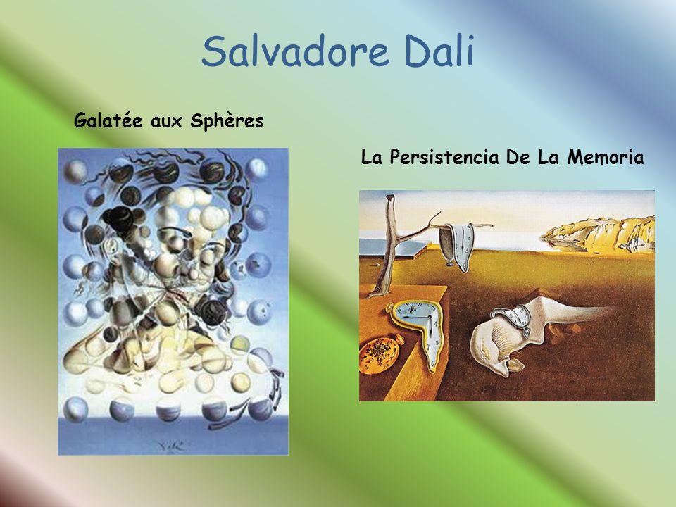 Salvadore Dali Galatée aux Sphères La Persistencia De La Memoria