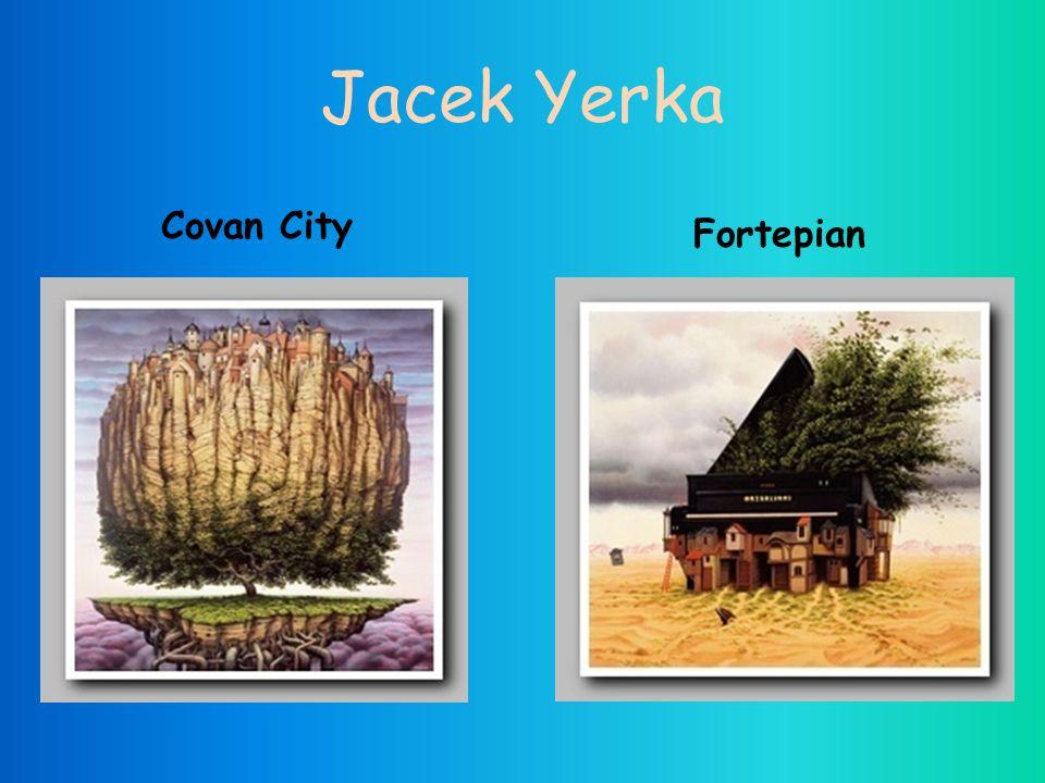 Jacek Yerka Covan City Fortepian