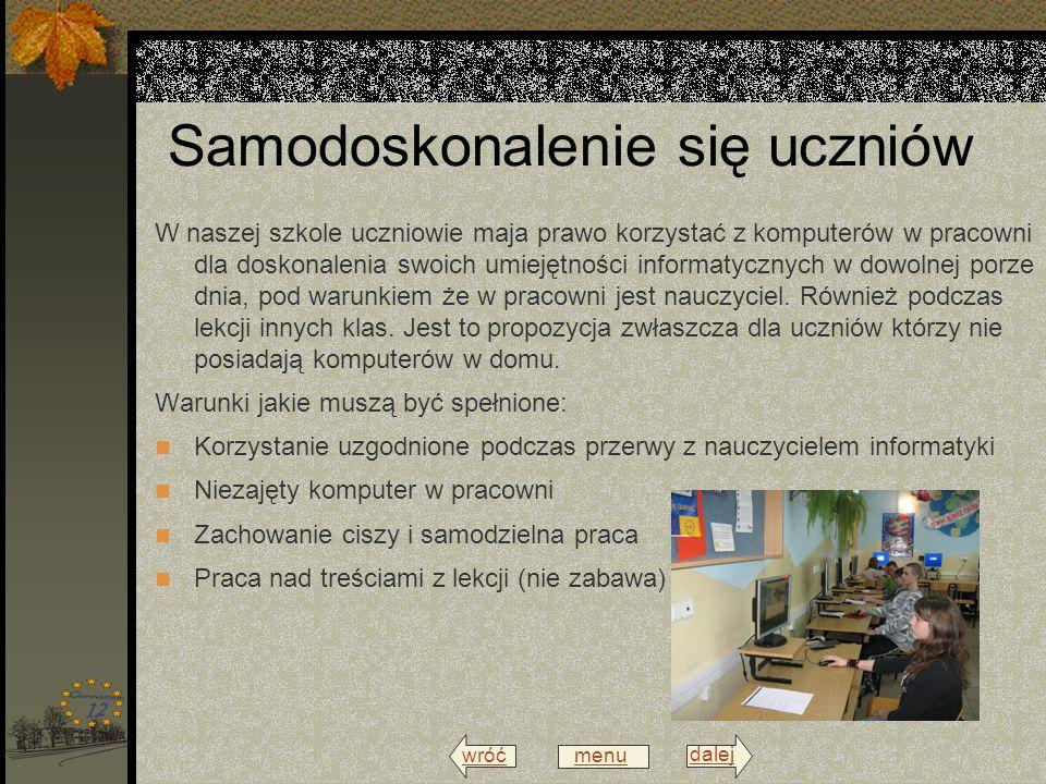wróć menu dalej Spotkania z nauczycielami informatyki W naszej szkole co roku spotykają się nauczyciele informatyki i/lub techniki na zebraniach Nauczycieli inowatorów techniki i informatyki.