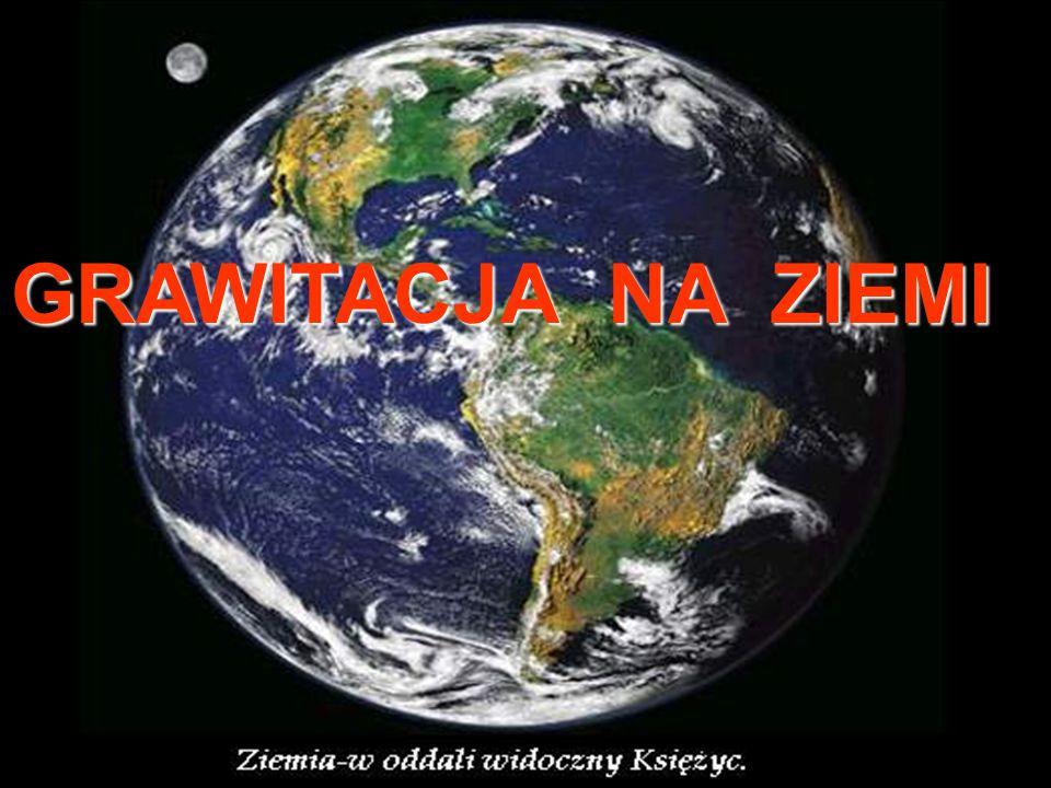 POLE GRAWITACYJNE ZIEMI Wokół Ziemi istnieje pole grawitacyjne wytworzone przez masę Ziemi.