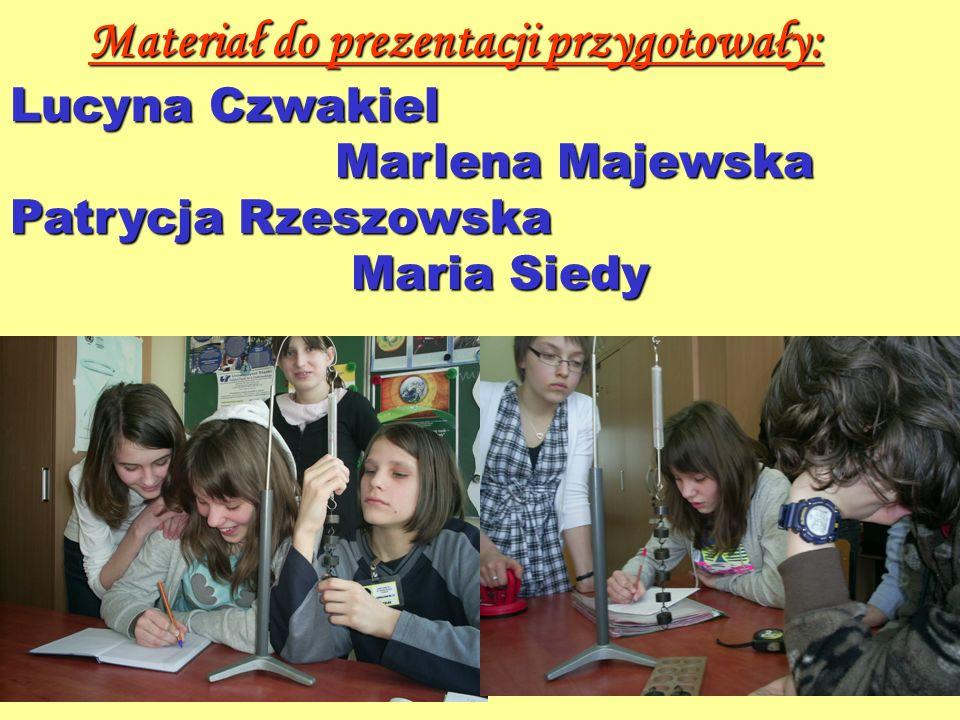 Materiał do prezentacji przygotowały: Lucyna Czwakiel Marlena Majewska Marlena Majewska Patrycja Rzeszowska Maria Siedy Maria Siedy