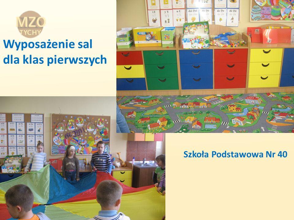 Wyposażenie sal dla klas pierwszych Szkoła Podstawowa Nr 40