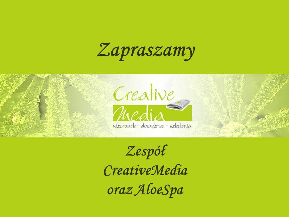 Zapraszamy Zespół CreativeMedia oraz AloeSpa