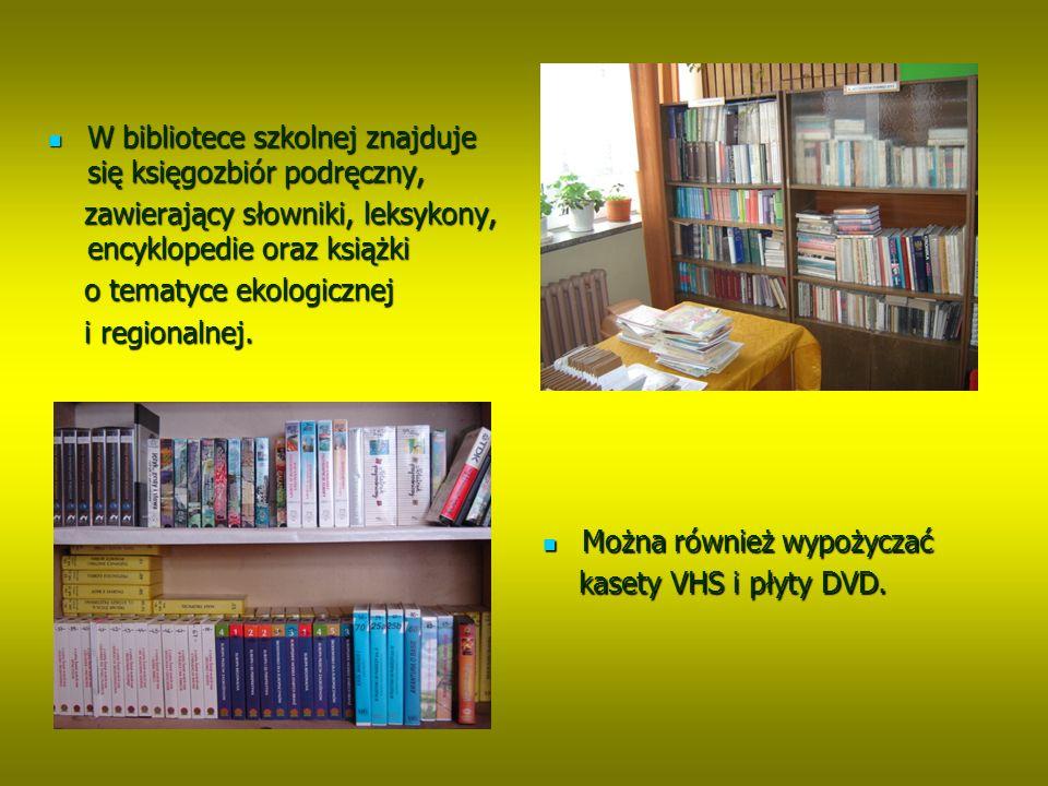 W czytelni znajdują się czasopisma dla uczniów W czytelni znajdują się czasopisma dla uczniów i nauczycieli i nauczycieli oraz dwa stanowiska oraz dwa stanowiska komputerowe z dostępem komputerowe z dostępem do internetu do internetu