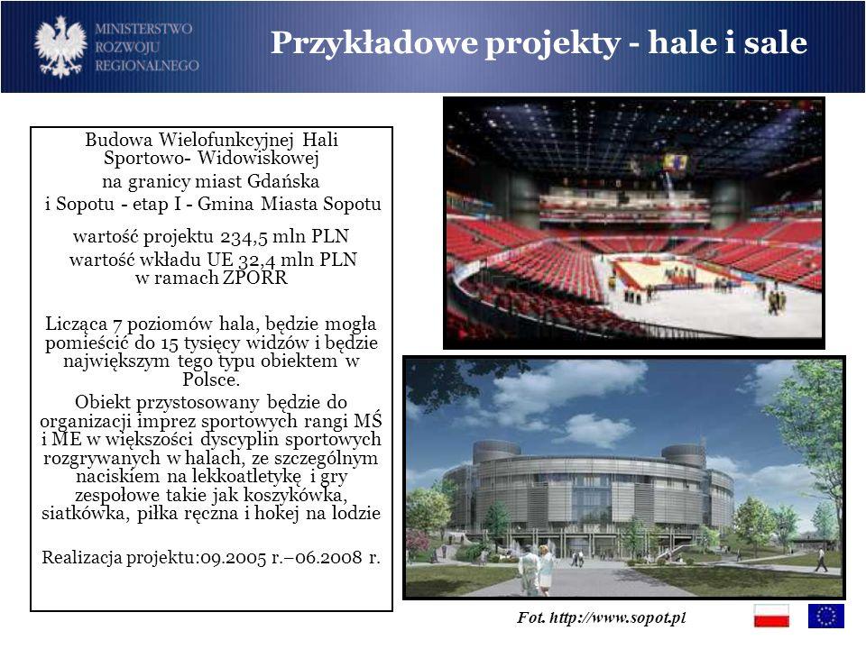 Budowa Wielofunkcyjnej Hali Sportowo- Widowiskowej na granicy miast Gdańska i Sopotu - etap I - Gmina Miasta Sopotu wartość projektu 234,5 mln PLN war