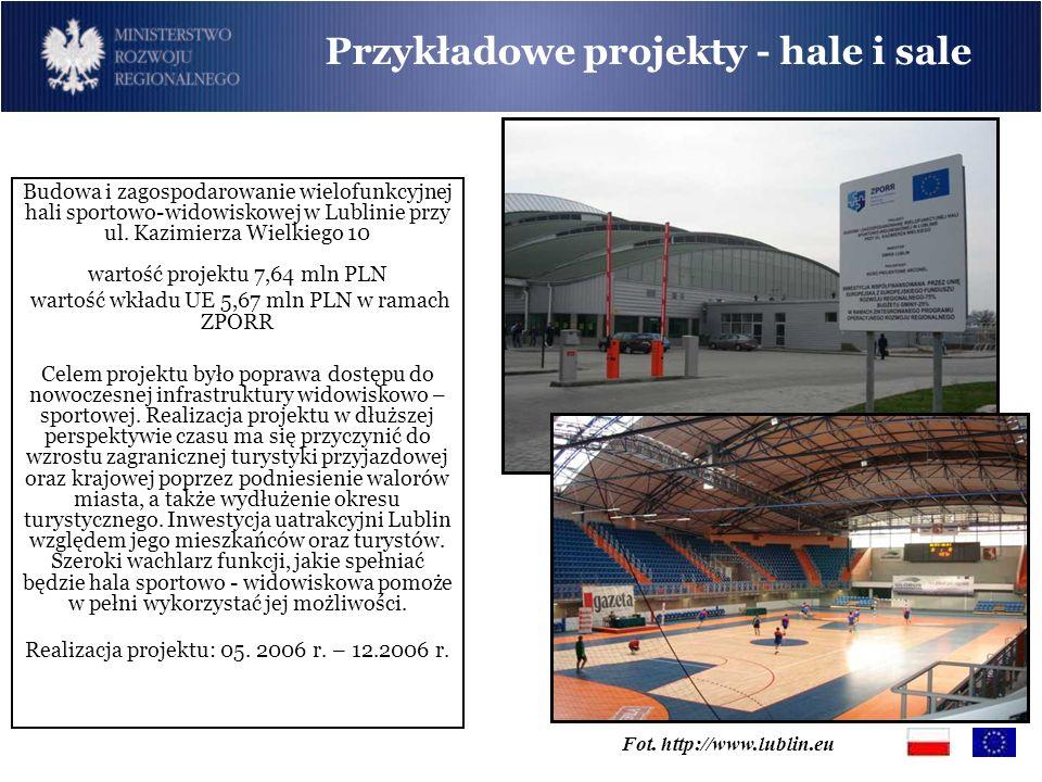 Fot. http://www.lublin.eu Budowa i zagospodarowanie wielofunkcyjnej hali sportowo-widowiskowej w Lublinie przy ul. Kazimierza Wielkiego 10 wartość pro