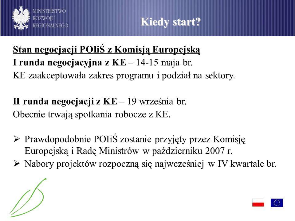 PO Infrastruktura i Środowisko Kiedy start.