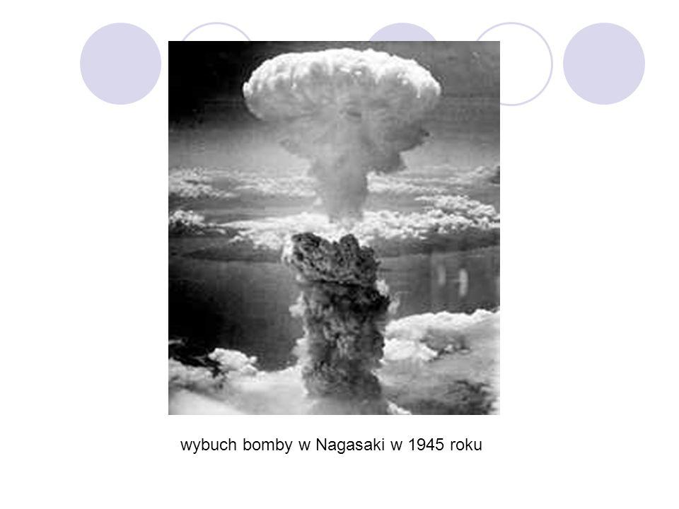 wybuch bomby w Nagasaki w 1945 roku