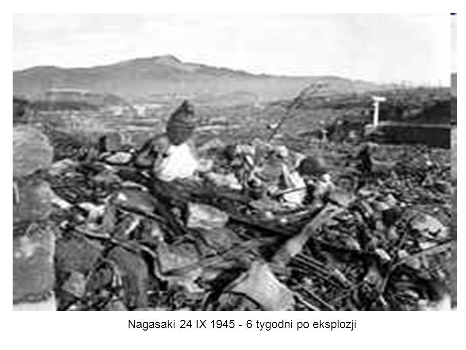 Nagasaki 24 IX 1945 - 6 tygodni po eksplozji