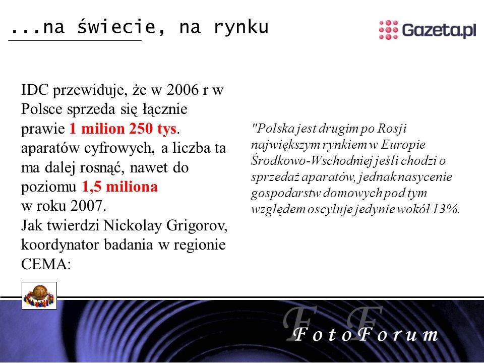 IDC przewiduje, że w 2006 r w Polsce sprzeda się łącznie prawie 1 milion 250 tys.