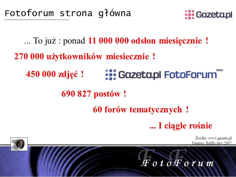 Fotoforum strona główna... To już : ponad 11 000 000 odsłon miesięcznie .