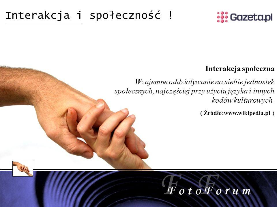 Interakcja i społeczność .