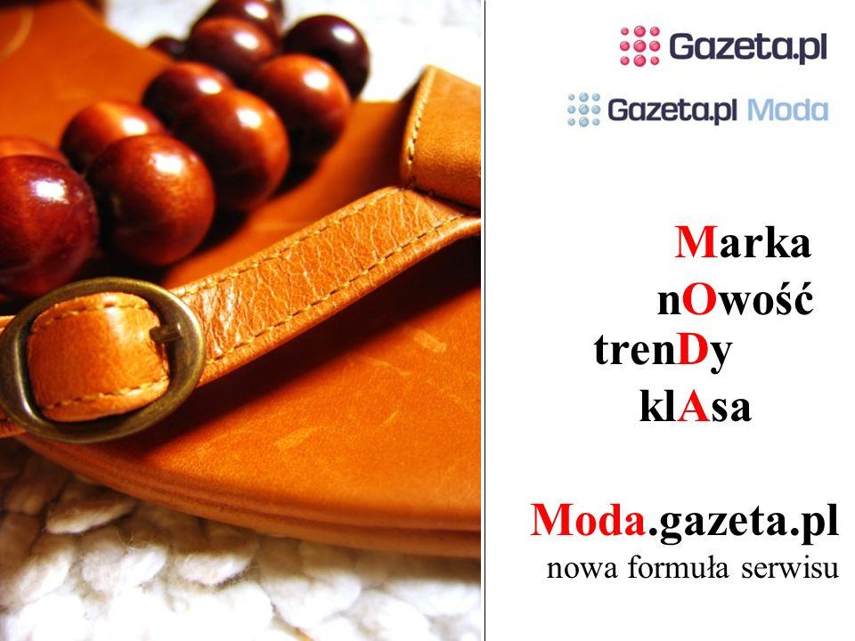 Moda.gazeta.pl nowa formuła serwisu trenDy klAsa Marka nOwość