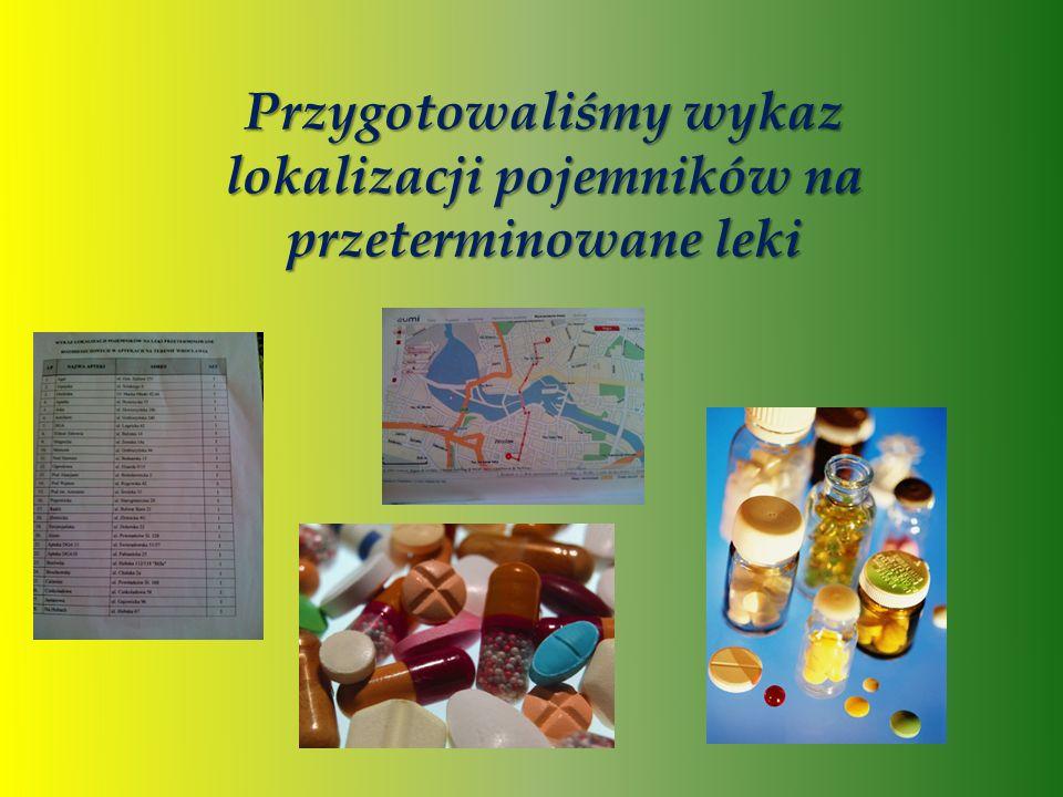 Przygotowaliśmy wykaz lokalizacji pojemników na przeterminowane leki