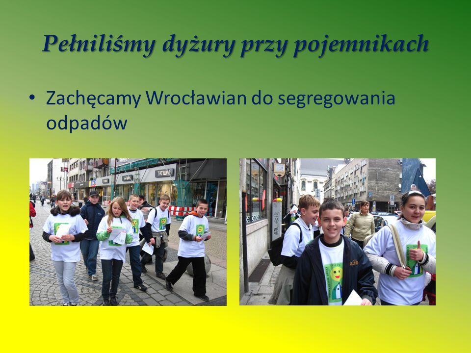Pełniliśmy dyżury przy pojemnikach Zachęcamy Wrocławian do segregowania odpadów