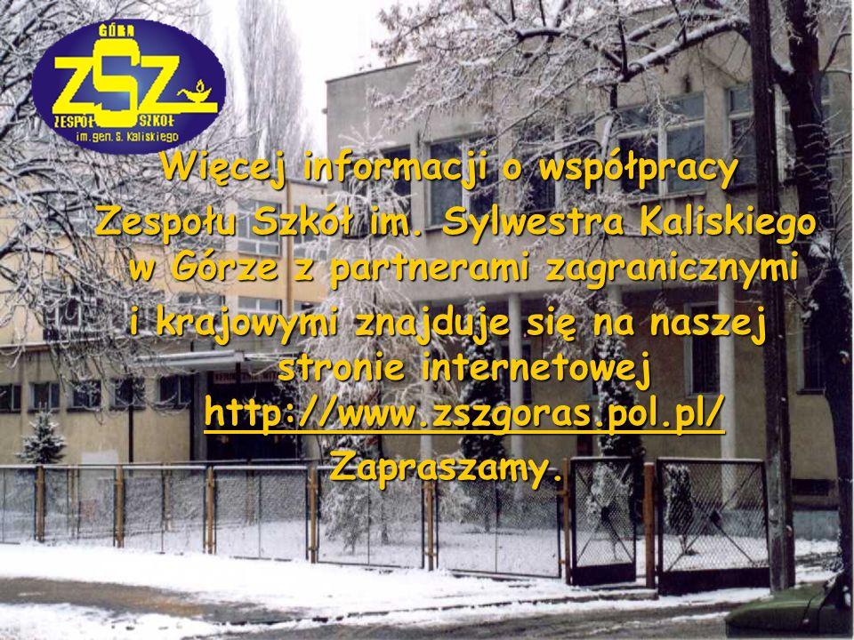 Więcej informacji o współpracy Zespołu Szkół im.